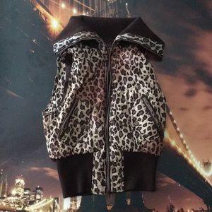 Cheetah printed vest